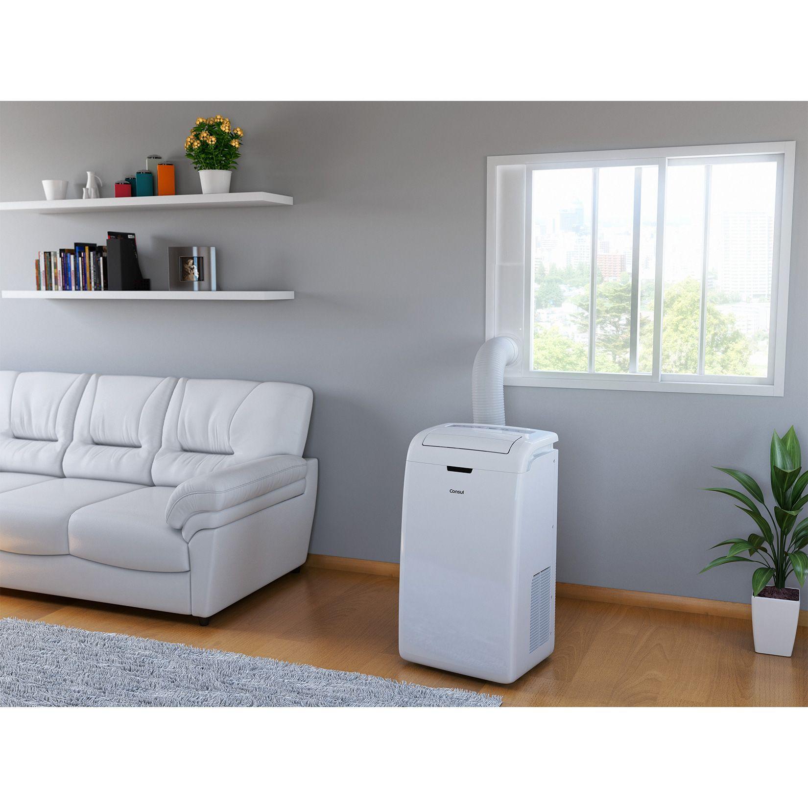 Ar condicionado port til 12mil btus consul branco com rel gio - Tubo condizionatore portatile finestra ...