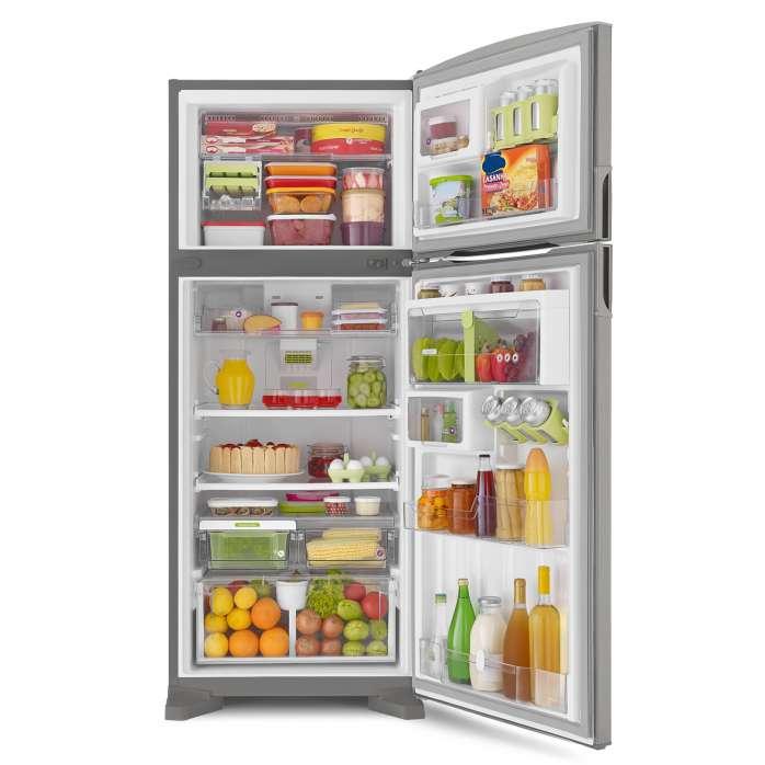 67c281513 Geladeira Consul Frost Free Duplex 405 litros cor Inox