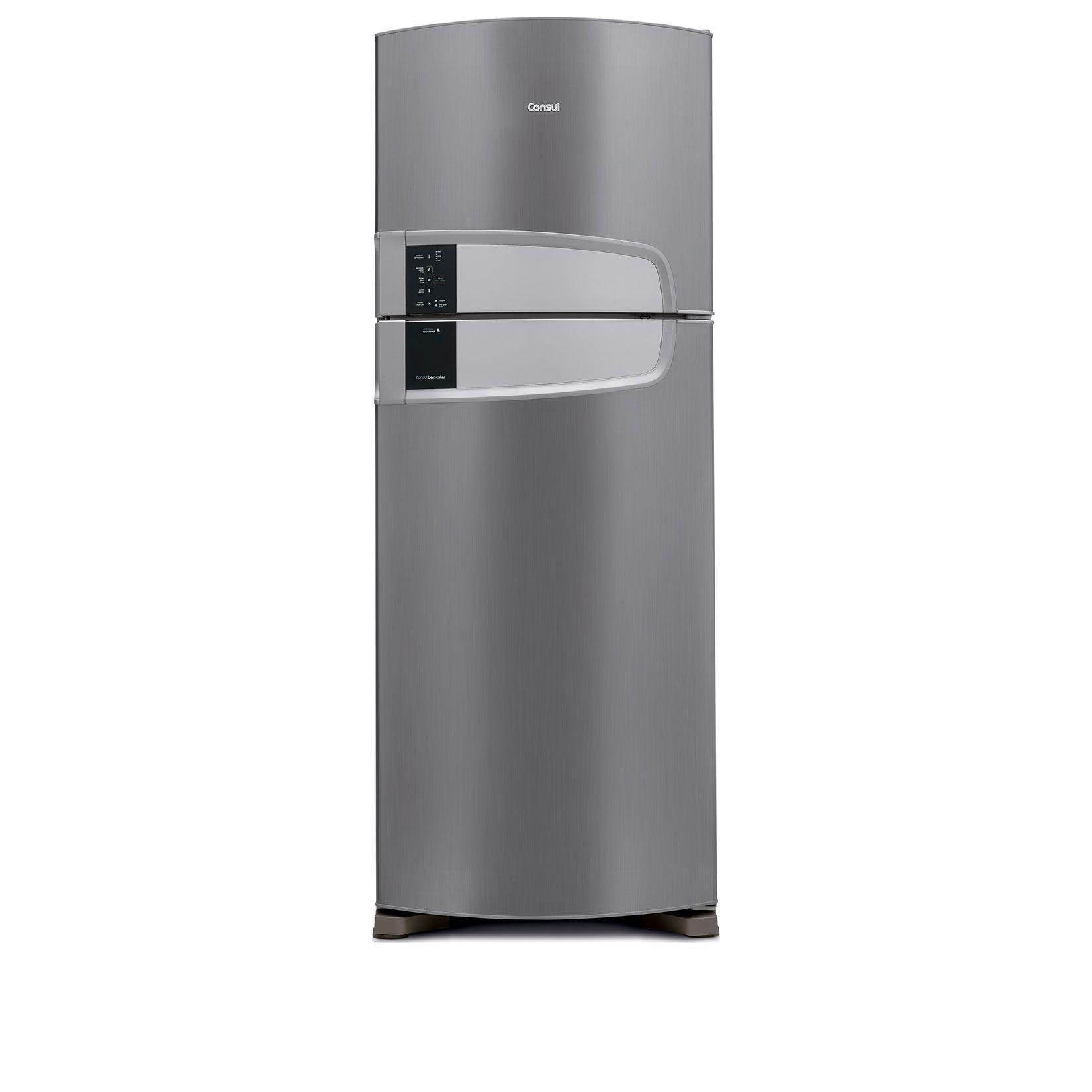 Muitas vezes Geladeira Consul Frost Free Duplex 437 litros cor Inox QB72