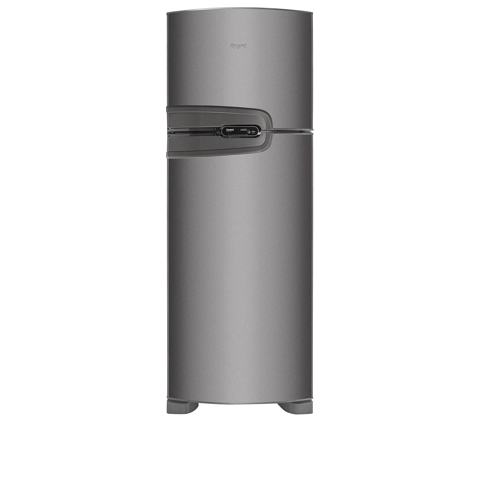 70fe2985f Geladeira Consul Frost Free Duplex 340 litros cor Inox