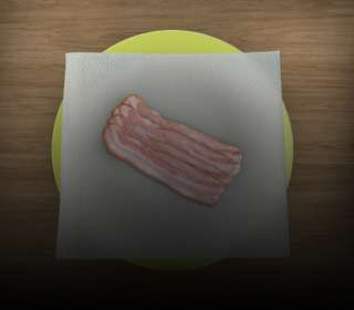 Prato com bacon